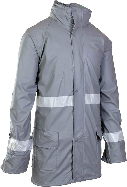 Grosvenor PU Reflektierender Regenmantel Fahrradjacke Jacke wasserdicht blau