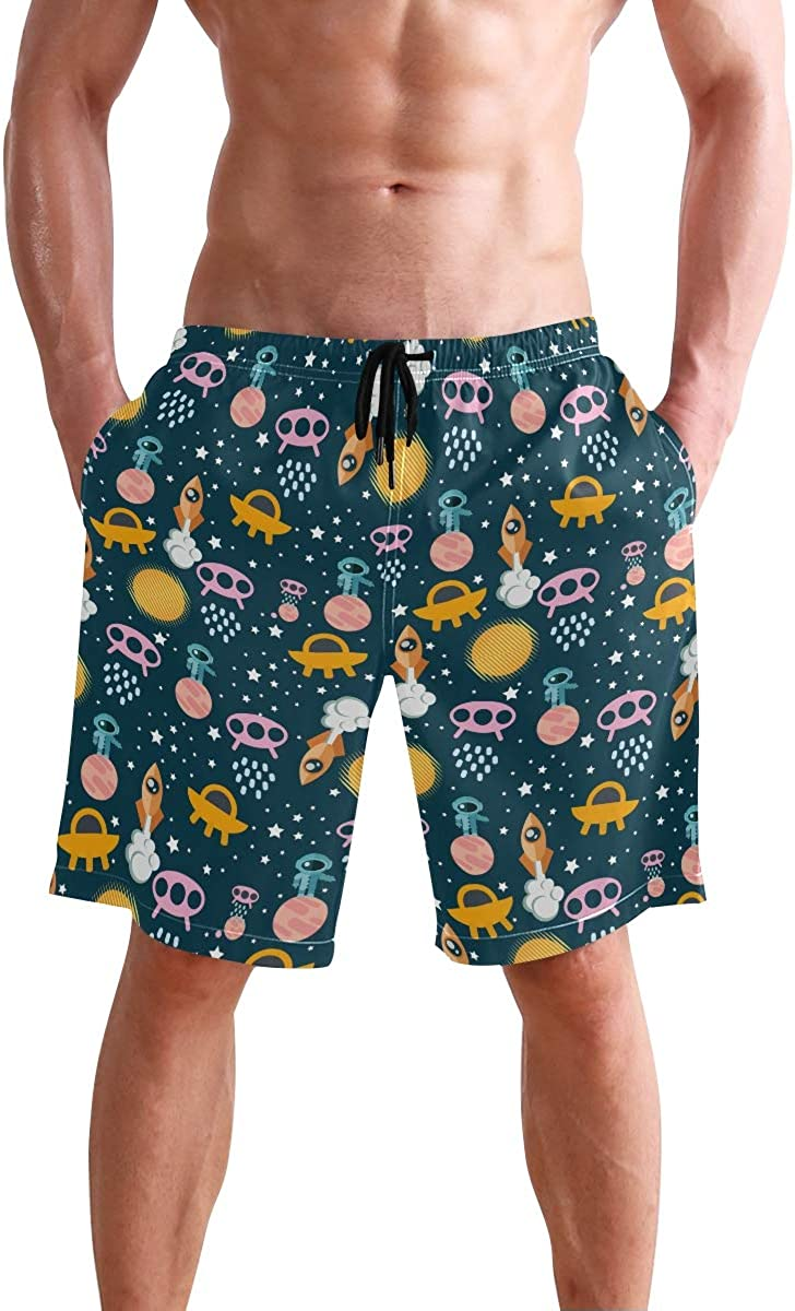 Cindly Mens Swim Trunks Christmas Plaid Painting Quick Dry Beach Board Shorts with Pockets