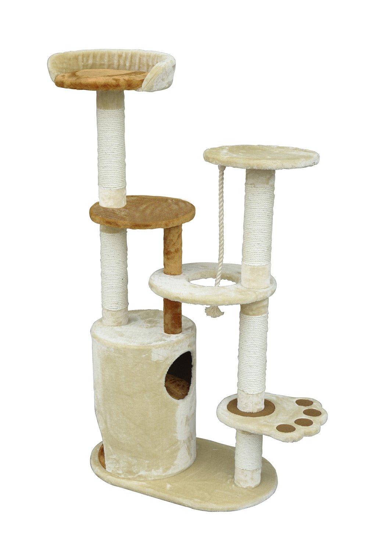 pawhut  cat tree condo scratching post furniture scratcher  - pawhut  cat tree condo scratching post furniture scratcher houseamazonca pet supplies