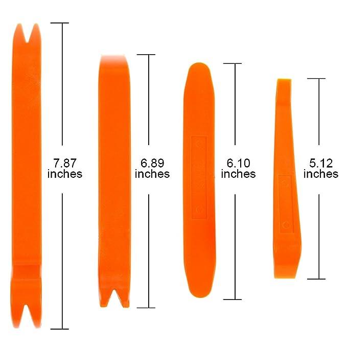 Lictin 240 Pzas Clip Remaches Negro Universales de Plastico Nylon Para Coche, Set de Retenedores Surtidos, La Mayoría de Herramienta de Palanca 4 Pzas ...
