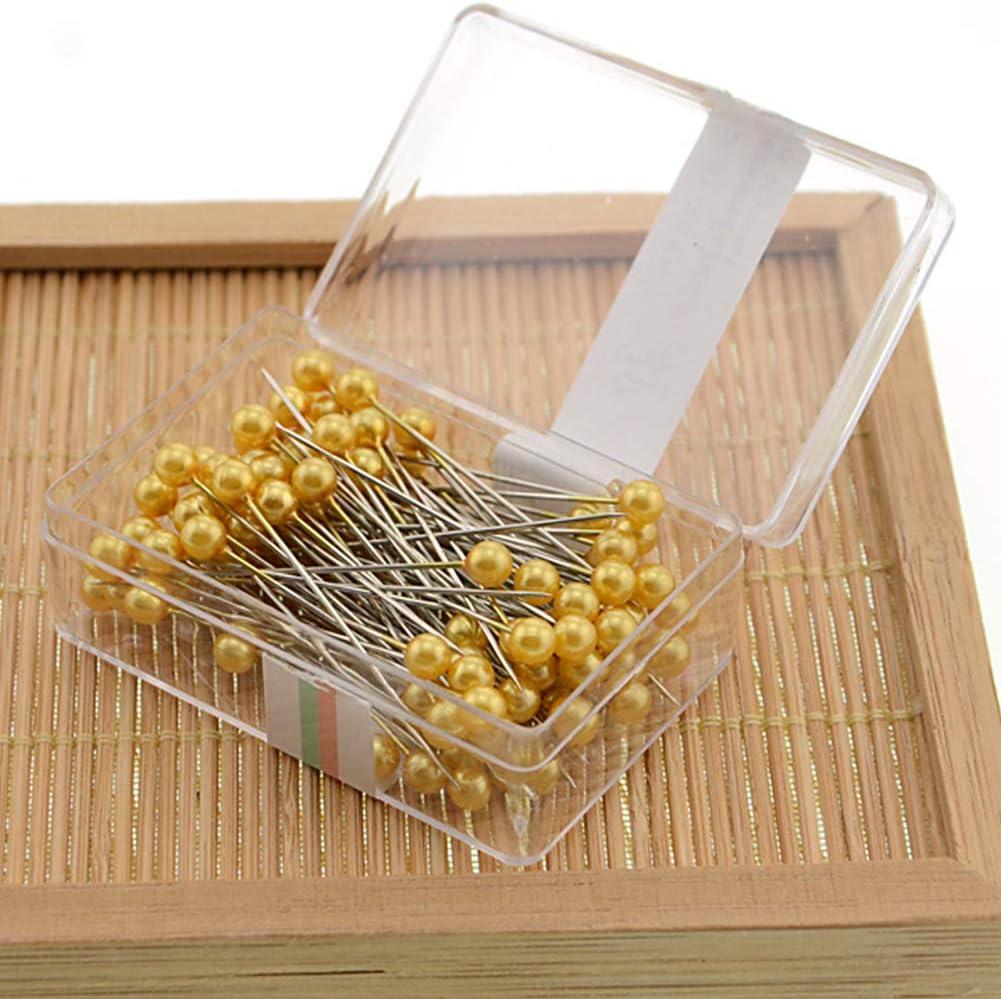 Taglia libera bianco Aghi professionali fai da te per abbellire spilli con testa di perla scatola per attrezzi da cucito confezionata per artigianato colorato