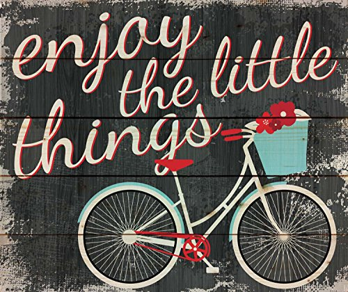 Enjoy the Little Things Vintage Bicycle 18 x 21 Wood Pallet Wall Art Sign Plaque