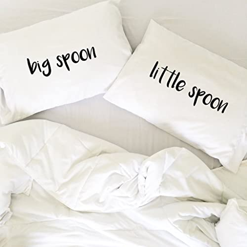 CCouqi Big Spoon Little Spoon Couples Pillowcases For Couples Wedding Gift  Anniversary Gift For Her Or