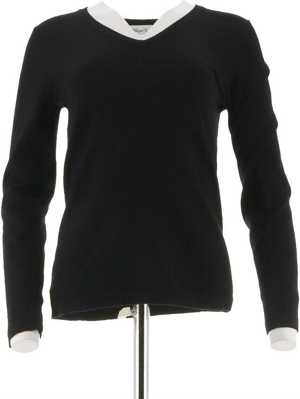 Linea Louis Dell'Olio Whisper Knit V-Neck Sweater New A217629