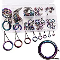 QualyQualy Colored Fishing Rod Eyes Guide Ring Tip Tops...