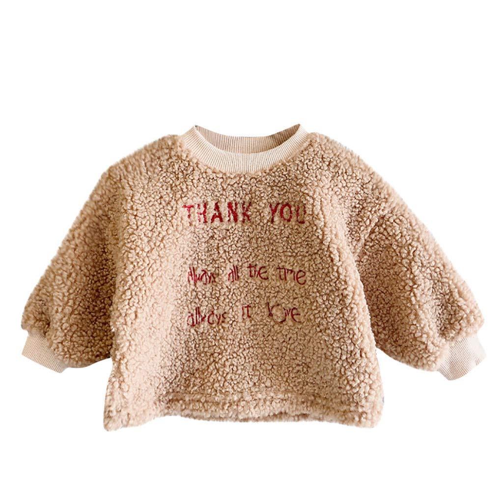 KUDICO B/éb/é Sweat V/êtements Hiver Chauds Enfants B/éb/é Gar/çons Filles Bande Dessin/ée Pullover Tops en Peluche Sweat-Shirt