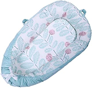 Baby Lounger Baby Nest, Womdee Baby Nest Sharing Co-Sleeping Baby Bassinet, 100% Organic Cotton Baby Portable Crib, Breathable & Hypoallergenic Portable Crib   Soft Cotton Pad Perfect For Cosleeping