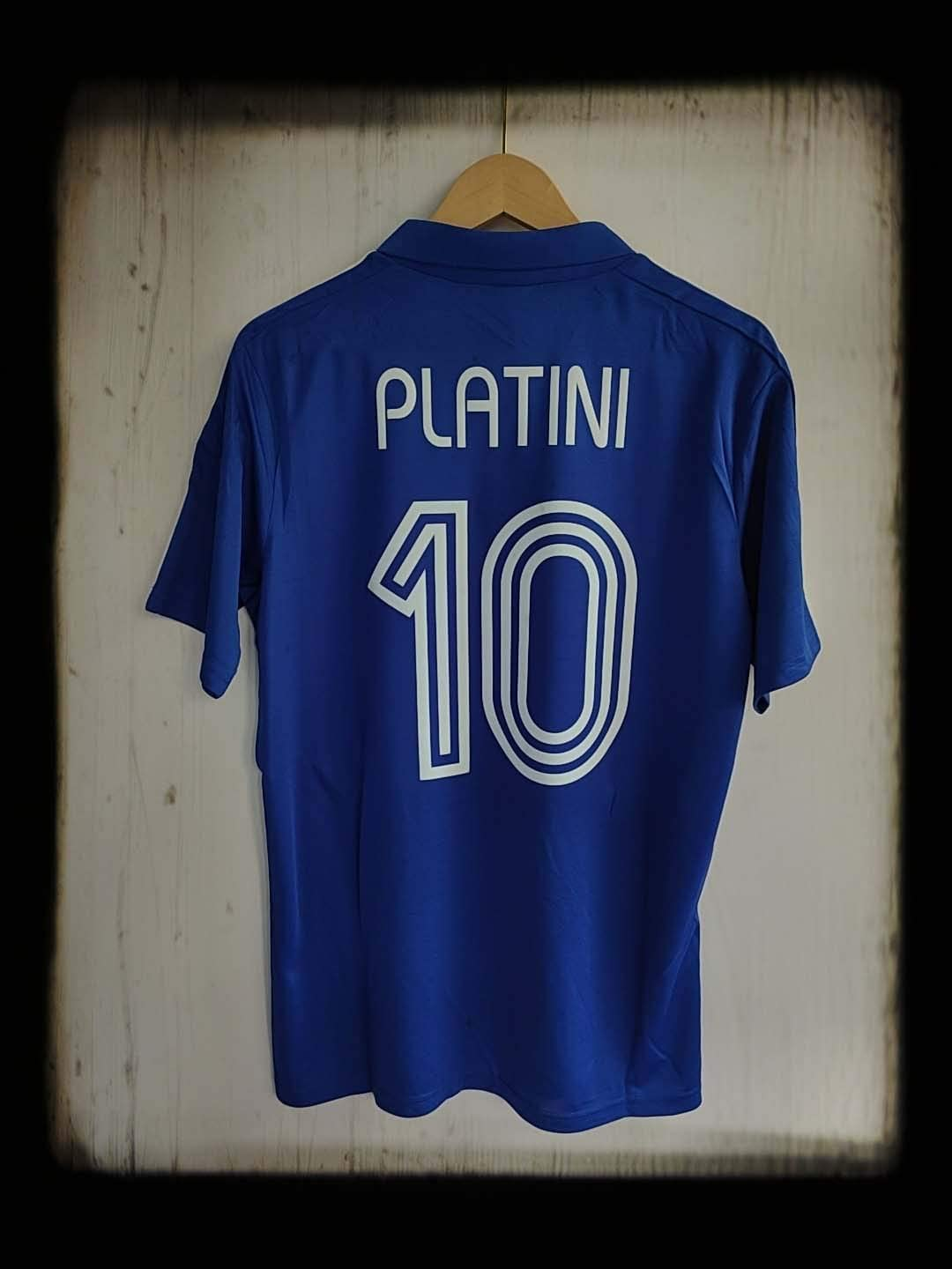 FM Michael PLATINI#10 France Home Retro Jersey 1984 Blue Color