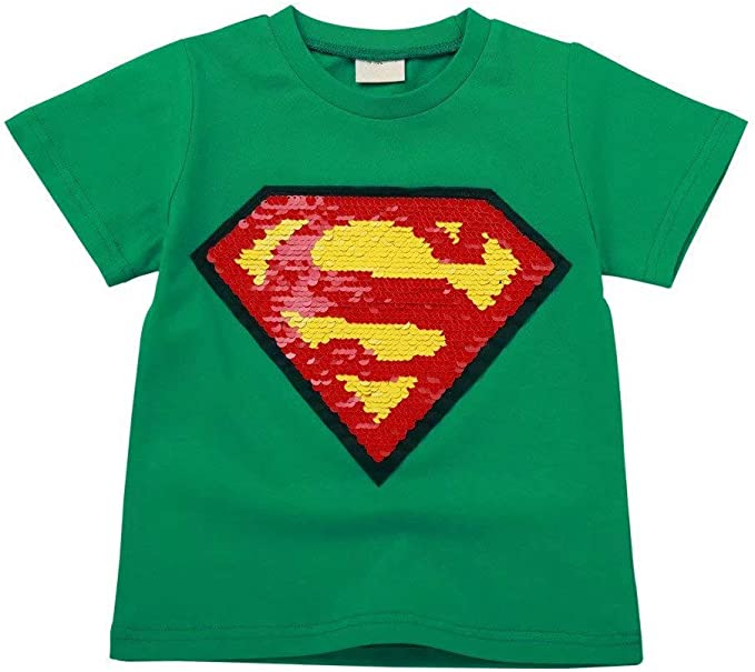Kids Boys Girls Cartoon Superhero Avengers Superman Holiday Party Tops T Shirts