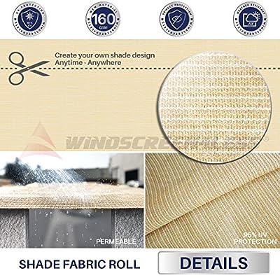 Windscreen4less Sunblock Shade Cloth,95% UV Block Shade Fabric Roll 6ft