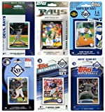 MLB Tampa Bay Rays 6 Different Licensed Trading Card Team Sets