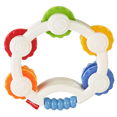 Fisher-Price Shake 'n Beats Tambourine Baby Rattle Toy : Baby Musical Toys : Baby