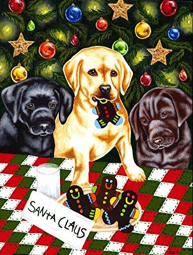 Caroline's Treasures AMB1314CHF Santa's Helpers in Christmas Stockings Labrador Flag, Large, Multicolor