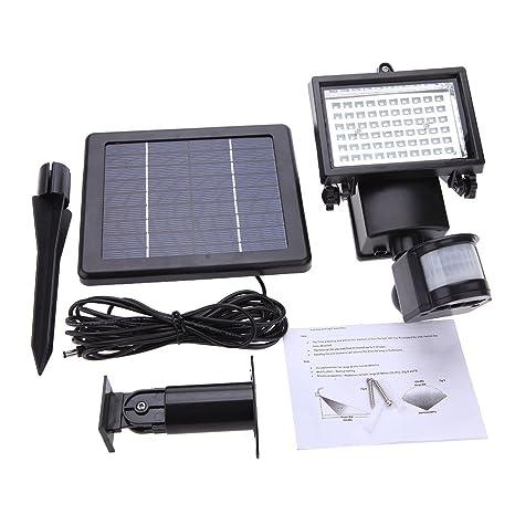 TTLIFE LED Lámparas Solares Jardin con Sensor Movimiento, Luces Solares Exteriors Impermeable 3 Modos Luces