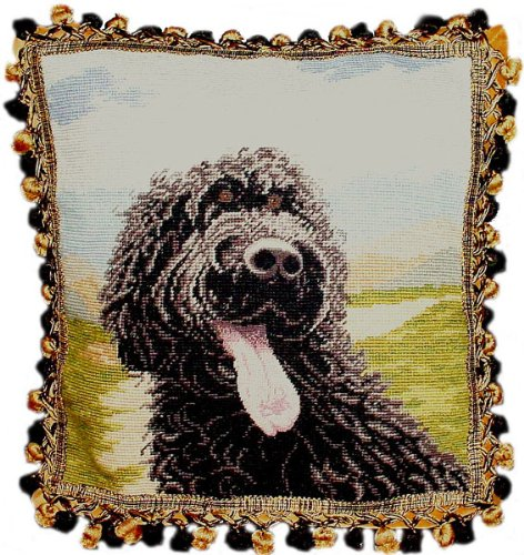 Deluxe Pillows Laughing Dog - 16 x 16 in. needlepoint pillow