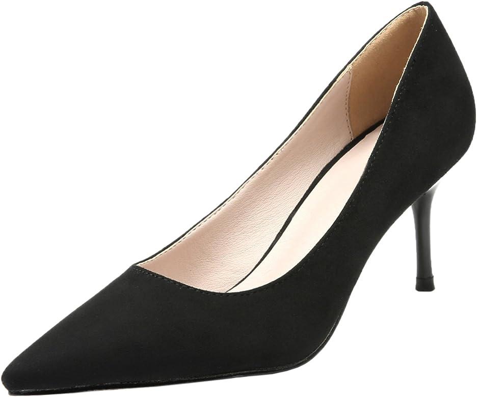 6058a0c3e5eb7 Women Wedding Pumps Pointed Toe Elegant Suede High Heels Dress Shoes