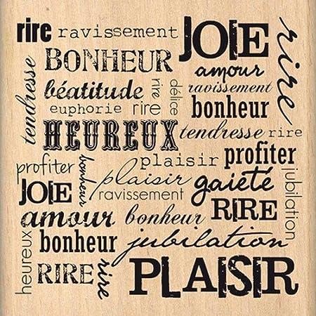 Floril/èges Design FF212095 Tampon Scrapbooking Rire et Plaisir Beige 8 x 8 x 2,5 cm