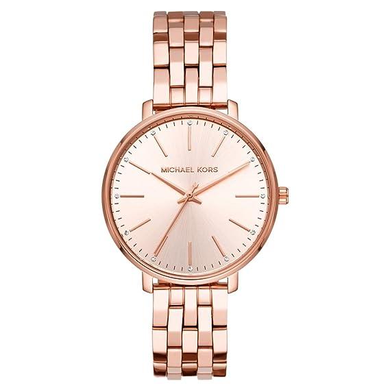 Michael Kors Reloj Analógico para Mujer de Cuarzo con Correa en Acero Inoxidable MK3897: Amazon.es: Relojes