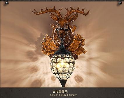 Kronleuchter Wand ~ Geweih wand lampe amerikanischen rustikalen retro stil wohnzimmer