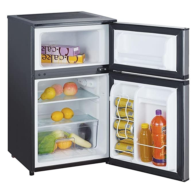 amazon com magic chef 3 1 cu ft mini refrigerator in stainless rh amazon com