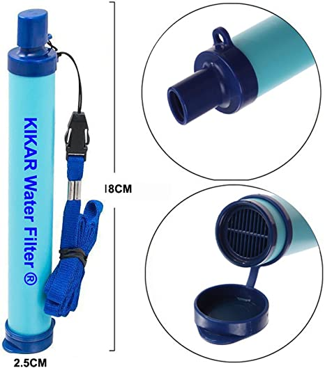 o de excursionista para situaciones de emergencia Kikar al aire libre Filtro de agua purificador de agua de fibra hueca perfecto para Mochilero Camper