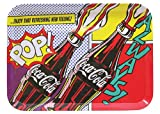 "Tablecraft CC390 Coca-Cola Pop Graphic Serving Tray, 15"" by 11"", Multicolor"