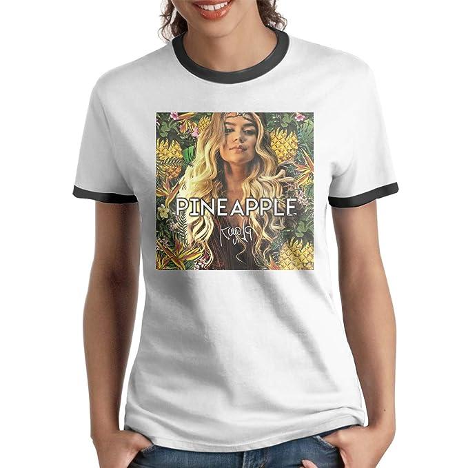 c9fa6e609f812 Amazon.com: Wang Ke Karol G Women's Casual Short Sleeve T-Shirt ...
