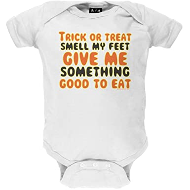 499cbd9ad24d Amazon.com  Old Glory Trick or Treat Smell My Feet Infant Bodysuit  Baby