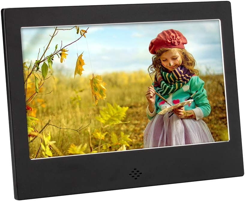 HD 1024600 Metal case Can Play Photos Music Videos When Insert Photo Frames USB SD with Remote Control Timer ON//Off Perfect for The Home and Office Acowsun Digital Picture Frame 10 Inch F709S