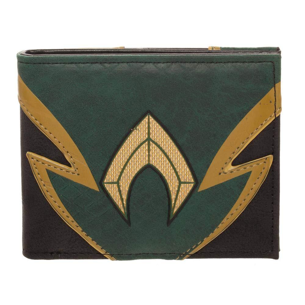 Official DC Comics Justice League Aquaman Chrome Patch Bi-fold Wallet - Boxed BioWorld