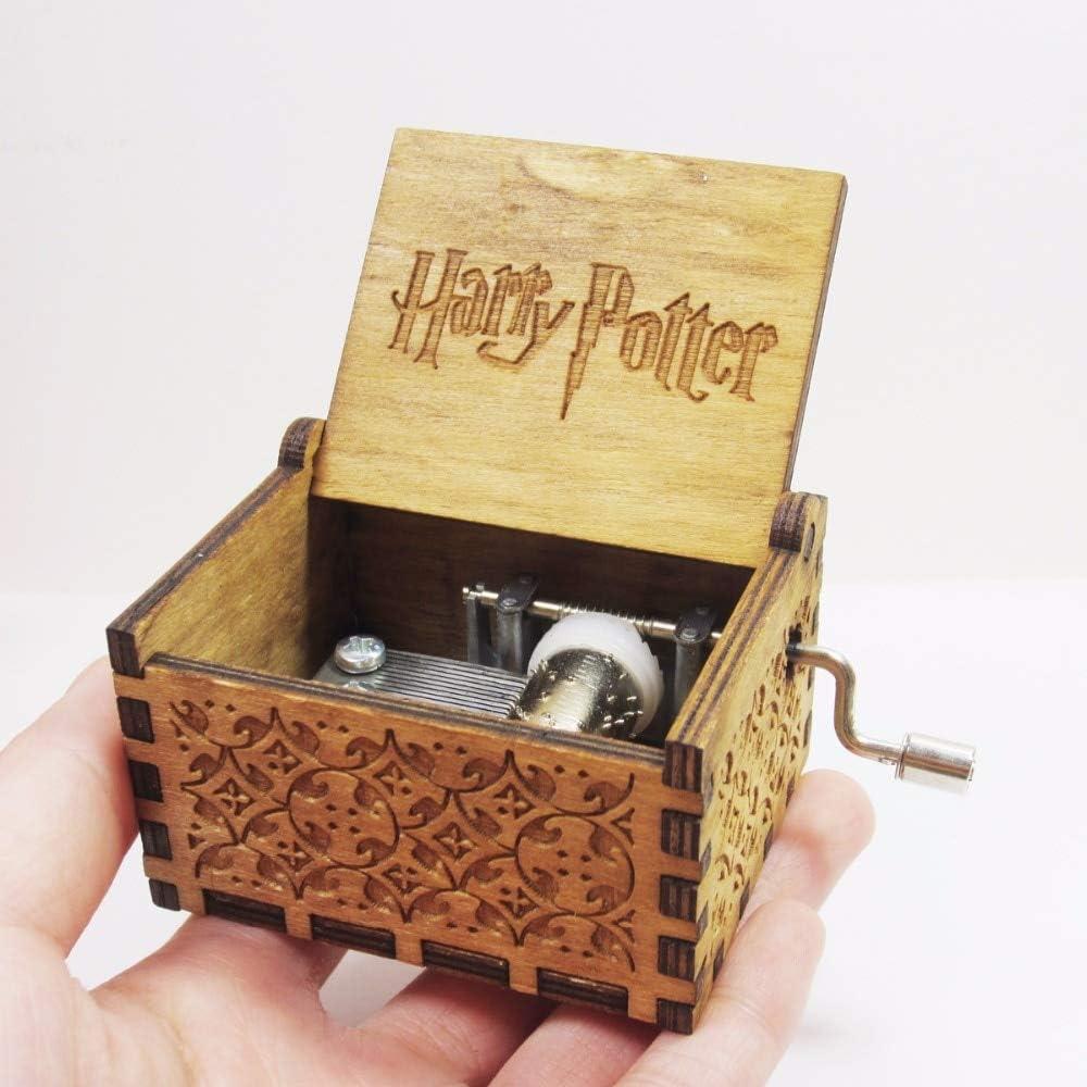 zyfun - Caja Musical de Regalo Antigua de Carved Wooden Harry ...