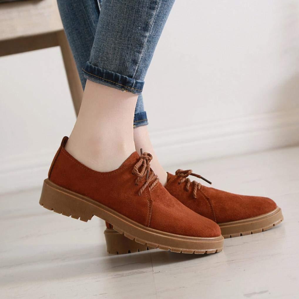 Gyoume Short Boots Women Autumn Flat Wedge Boots Shoes Lace up Boots Shoes Low Heel Boots Shoes