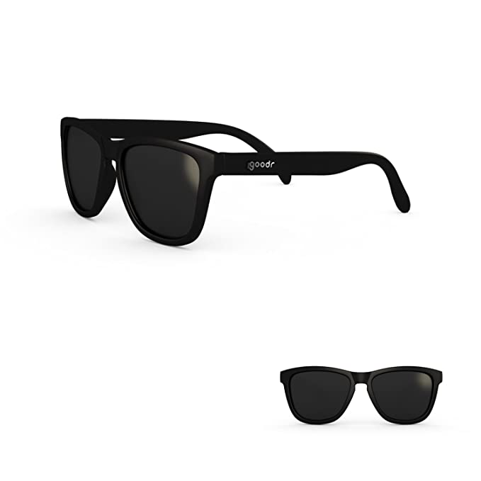 f0214213be05e goodr RUNNING SUNGLASSES - (Black w Black Lens)  Amazon.ca  Clothing ...