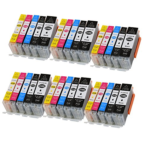(20 Ink (4BK,4PBK,4C,4M,4Y) TONER4U Replace Compatible for Canon PGI-250 CLI-251 XL/PGI-250XL CLI-251XL Black, Photo Black, Cyan, Magenta, Yellow PGI250 CLI251 PGI/pg 250 CLI/cl 251 pg/cl pg250 c)