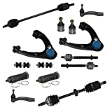 EXCLUDES SI models for 1996-2000 Honda Civic - 14pc Front Suspension Kit Both (2) CV Axles, 2 Upper Control Arms & All (4) Ball Joints, 2 Front Sway Bar, All (4) Tie Rod, 2 Tie Rod