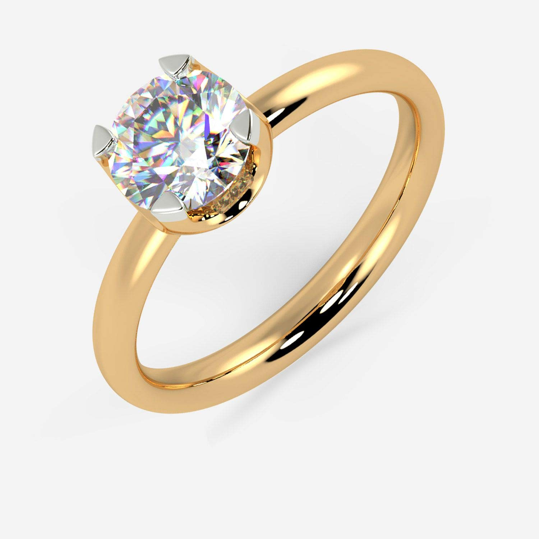 Buy Malabar Gold Diamonds 18k 750 Yellow Gold And Diamond Ring