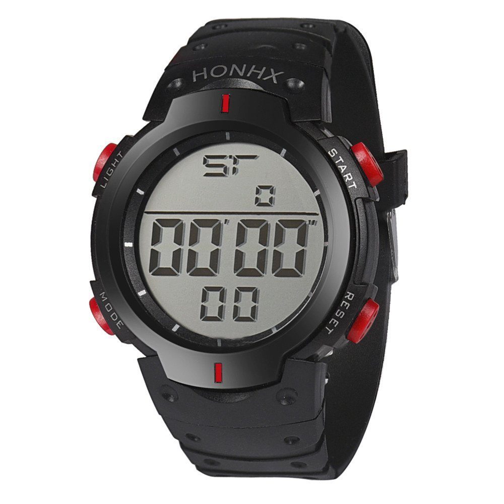 Reloj digital para hombre, relojes deportivos DYTA de 5 ATM, resistente al agua, con LED, correa de reloj de pulsera de goma militar con cierre analógico de ...