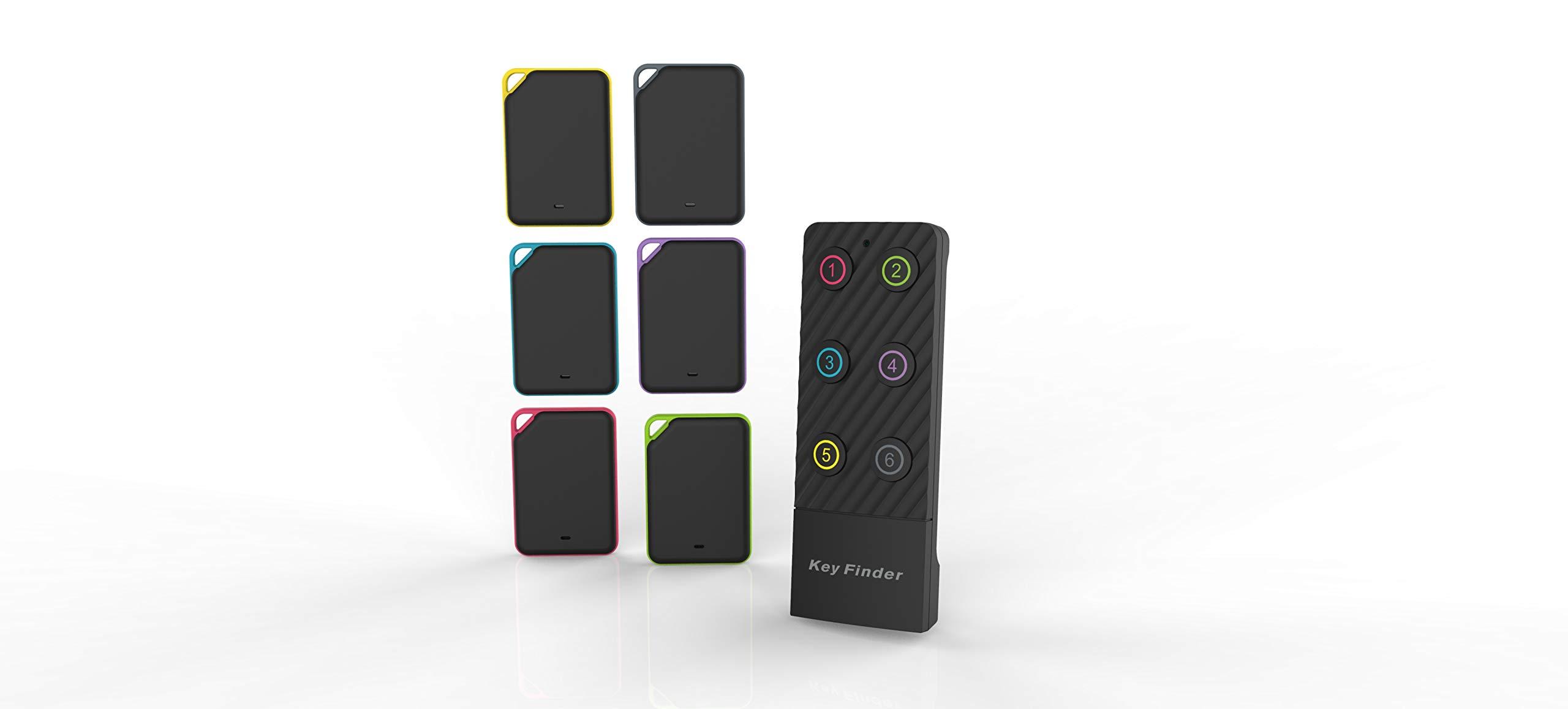 Key Finder Tracker,FindKey Wireless Key RF Locator Item Anti-Lost Tag Alarm Reminder Remote Finder,1 RF Transmitter 6 Receivers,Phone Pets Keychain Wallet Luggage Pet Tracking by FindKey