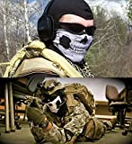 NEW BICYCLE SKI SKULL HALF FACE MASK GHOST SCARF NECK WARMER COSTUME HALLOWEEN