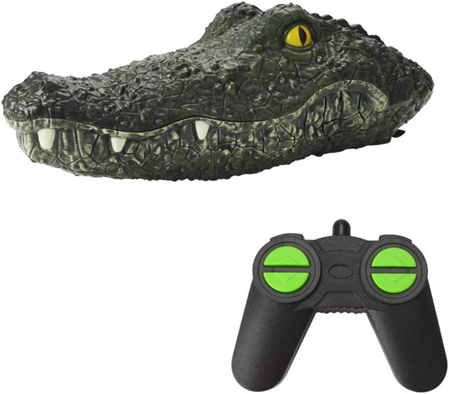 RC Crocodile Head Floating RC Boat 2.4G Remote Control Electric Racing Boat Spoof Toy Rechargeable