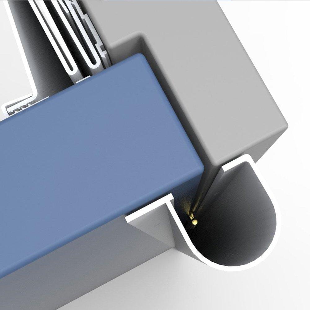 Complete Door Safety Shield Set | Finger Pinch Protector Guards for Door Hinges (96'', Brown) by Fingersafe USA (Image #3)