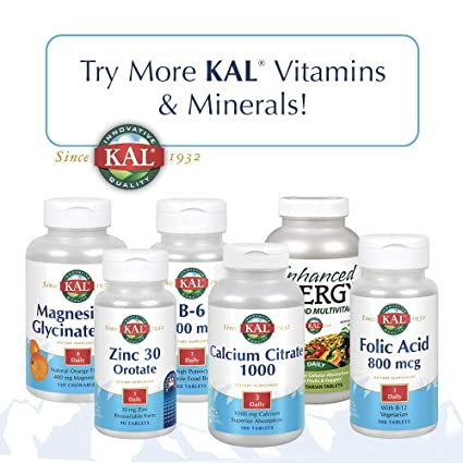 Amazon.com: KAL D-3 Dropins 2000 IU Vitamin Tablets, Blueberry, 1.8 Ounce: Health & Personal Care