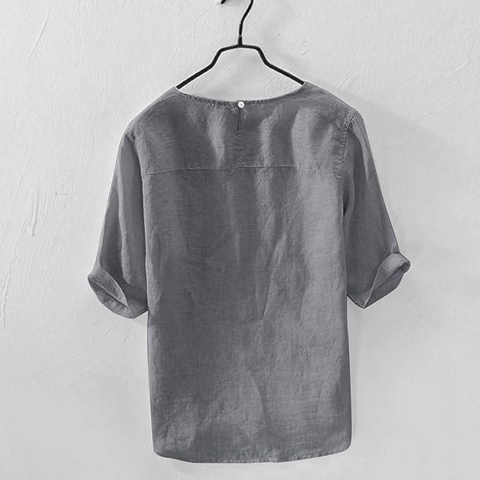 Camisetas Informal Mangas 34 Cuello redondo Geométrico