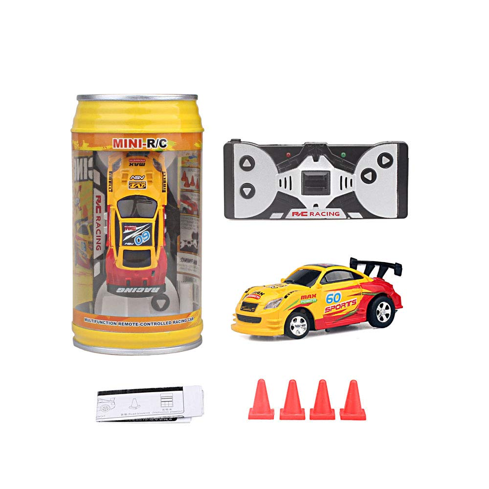 Red ZHFUYS RC Cars,Pocket Racers Mini Cola 2.4G Radio carscontrol Within 66 ft.