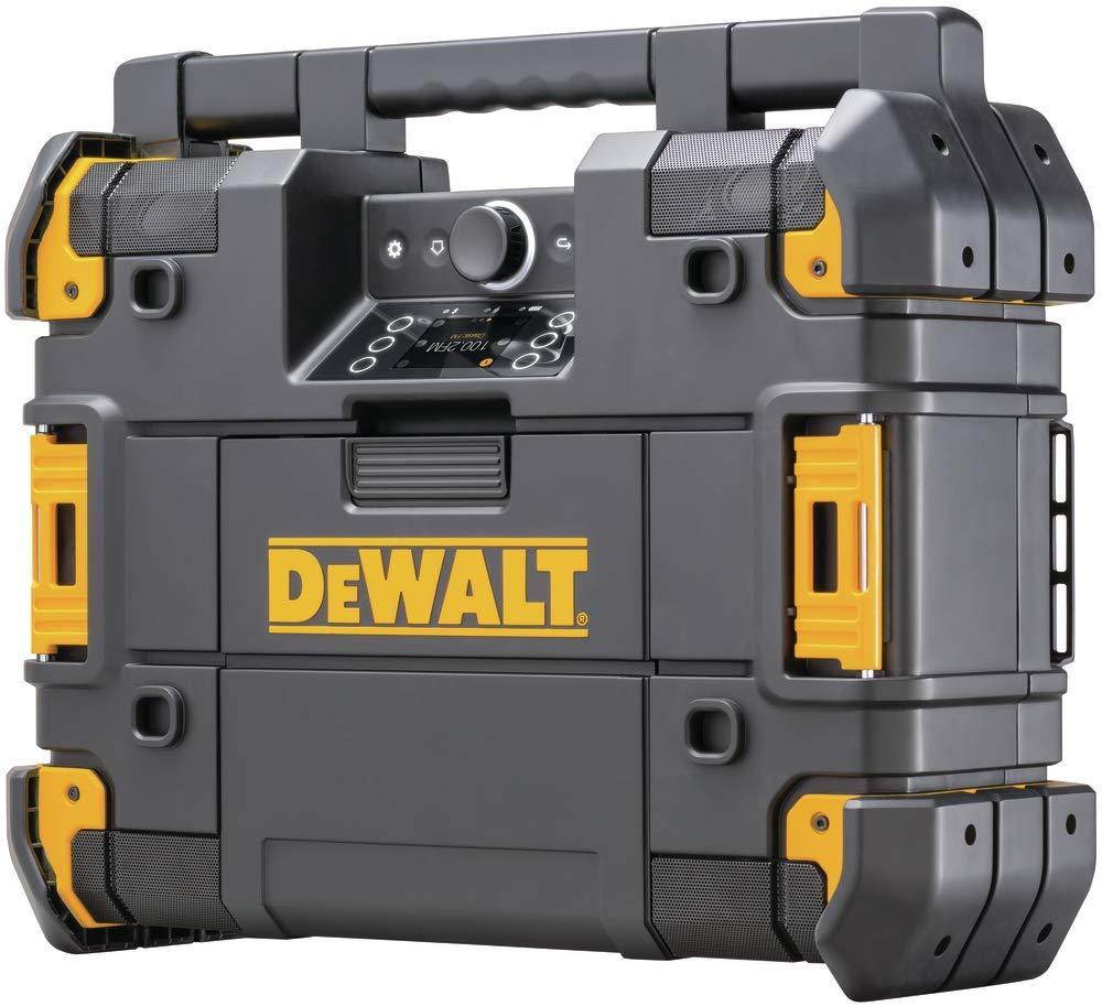 DEWALT TSTAK Jobsite Radio & Battery Charger, Bluetooth (DWST17510) by DEWALT