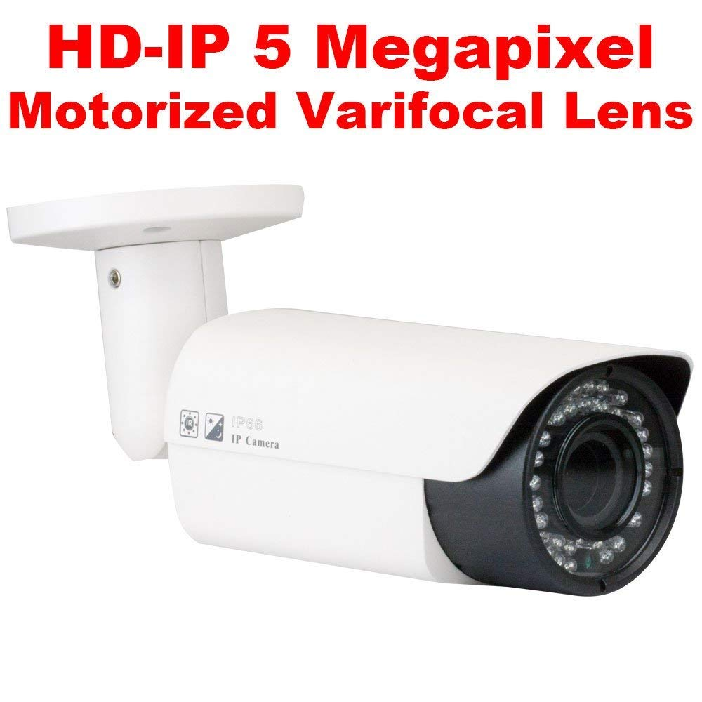 GW 8 Channel H.265 4K NVR 5.0 Megapixel 2592 x 1920 4X Optical Zoom Network Video Security System, 4pcs 5MP 1920p 2.8-12mm Motorized Zoom POE Weatherproof Bullet IP Cameras, 120ft Night Vision