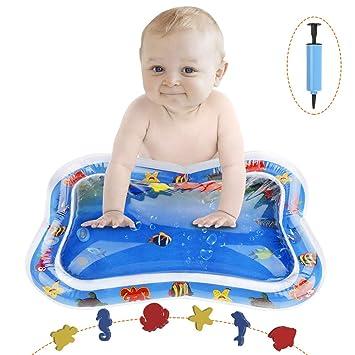 Swonuk Alfombra Inflable con Agua 66*50 Adecuado para niños pequeños Juego de Esterilla de Agua PVC Grueso es el Momento de diversión Juego Centro de Actividad