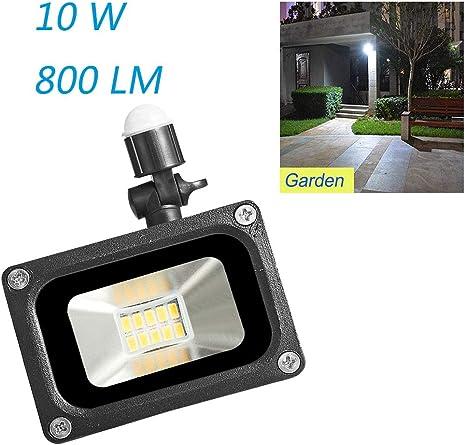 10W 110V Outdoor w// PIR Motion Sensor LED Flood Light Garden Security Lamp IP65