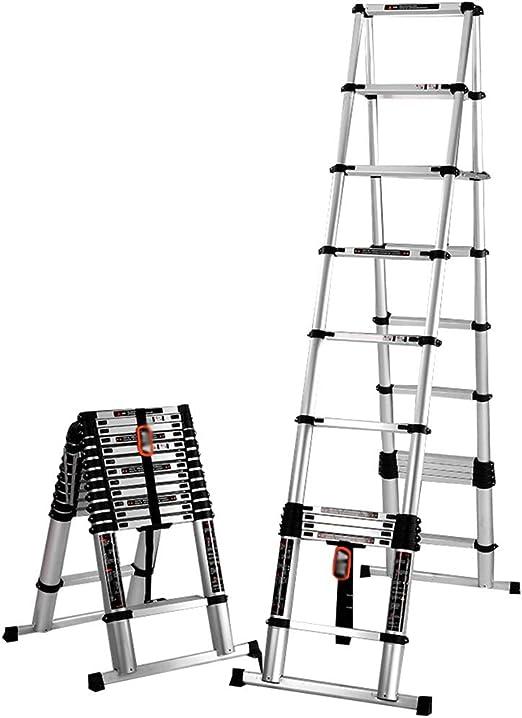 Escaleras plegables aluminio Escalera Telescópica de Aluminio ...