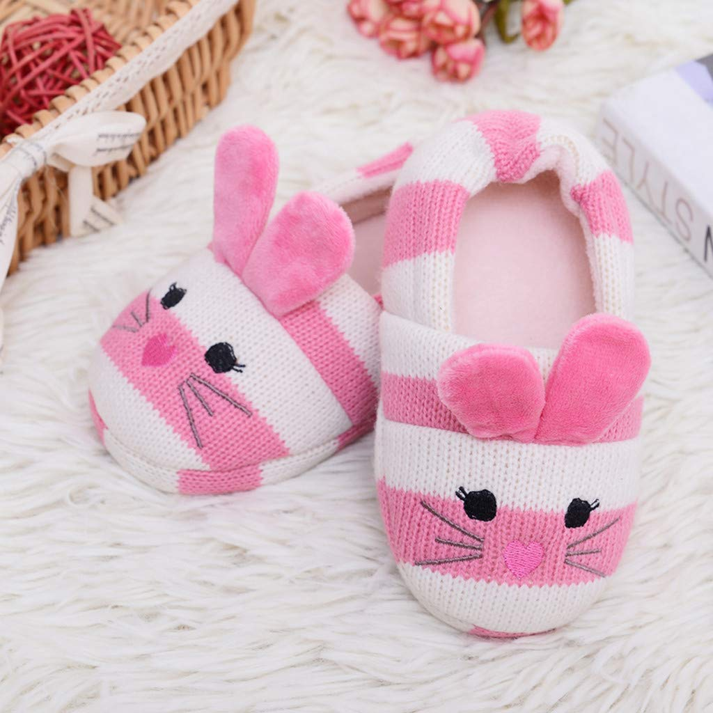 2-9Years Vintress Boys Girls Home Slippers,Kids Cute Plush Lined Warm House Slippers Winter Indoor Shoes
